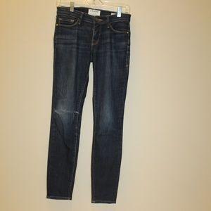 Frame Demin Ripped Le Skinny de Jeanne Jeans 26
